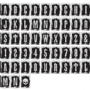 "TH93623 Tim Holtz® Idea-ology™ Transparent Alpha Tiles 48/Pkg Letters, Numbers & Symbols 1.25""X1.75"""